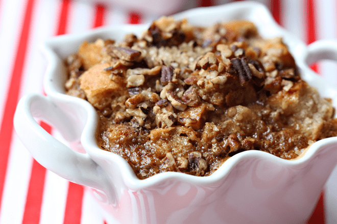 Alexia Pecan Gingerbread Bread Pudding