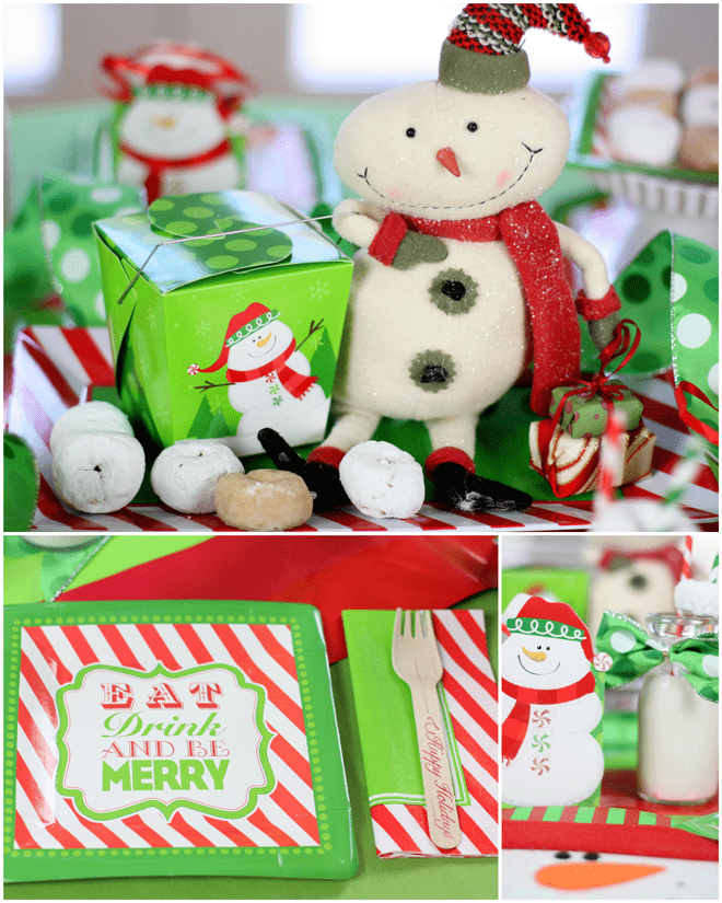 Snowmen & Donuts Christmas Party by Pizzazzerie