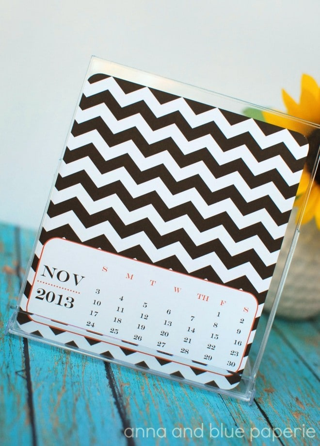 Chevron 2013 Free Desk Calendar