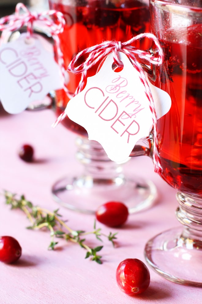 Berry Cider Holiday Drink Recipe