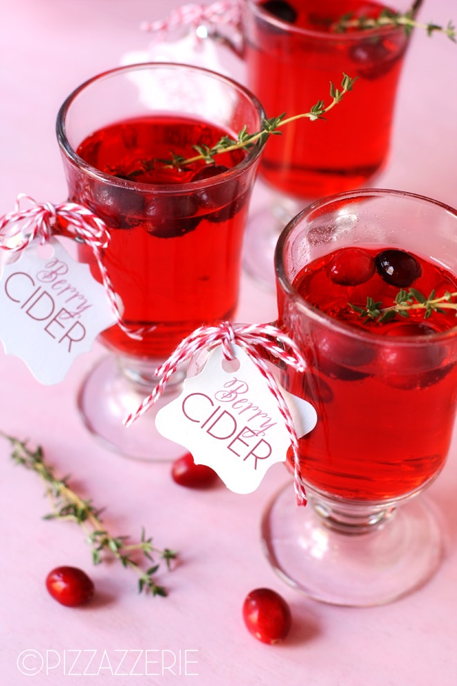 {Giveaway} Warm Berry Cider & Mistletoe Cocktail Recipes!