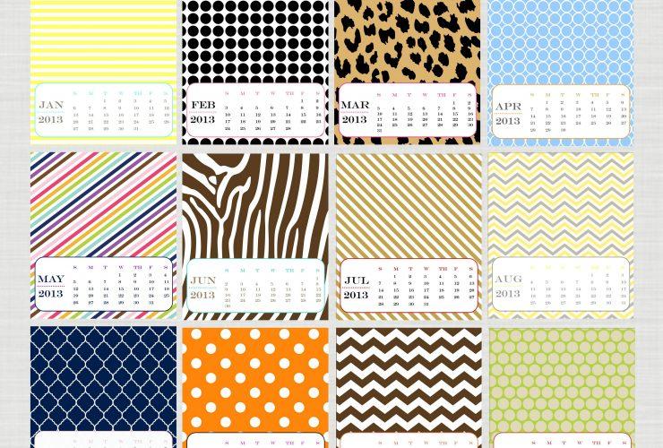 Cute & Free 2013 Desk Calendar!