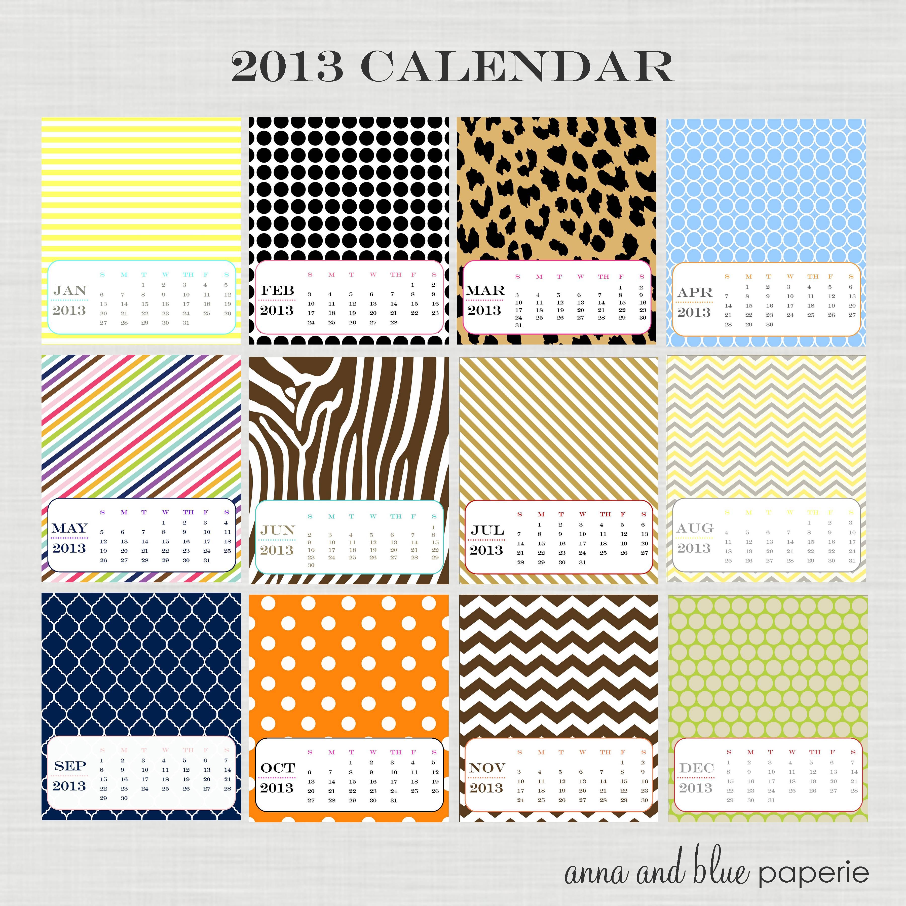 Free 2013 Desktop Calendar