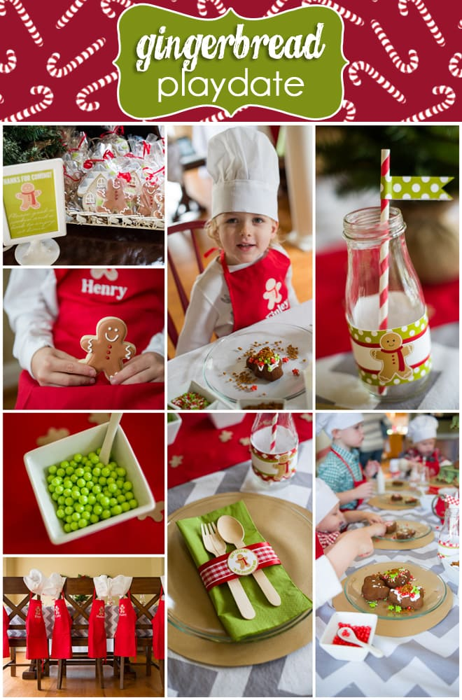 CUTEST Gingerbread Holiday Party Playdate!