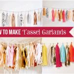 How to Make Tissue Paper Tassel Garlands! Tutorial!
