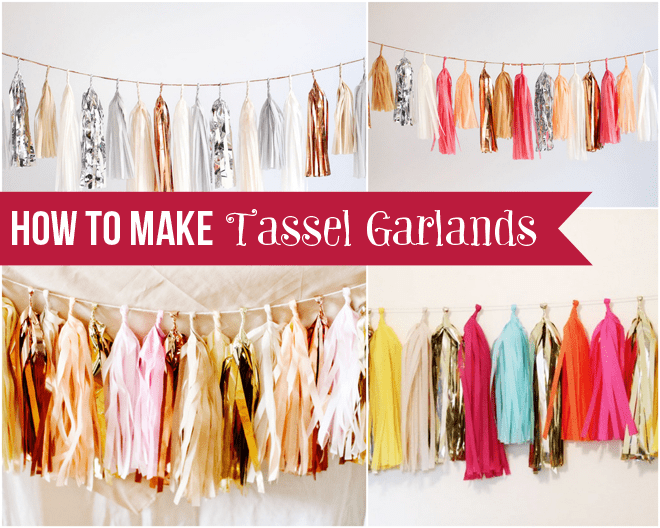 How to Make Tissue Paper Tassel Garlands! Tutorial!