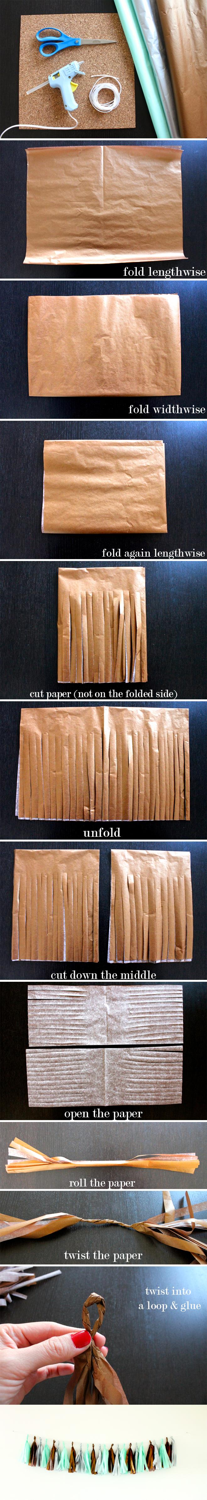 How to make a Tissue Paper Tassel Garland!
