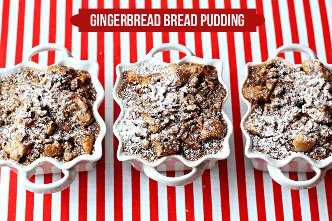 Gingerbread Bread Pudding!