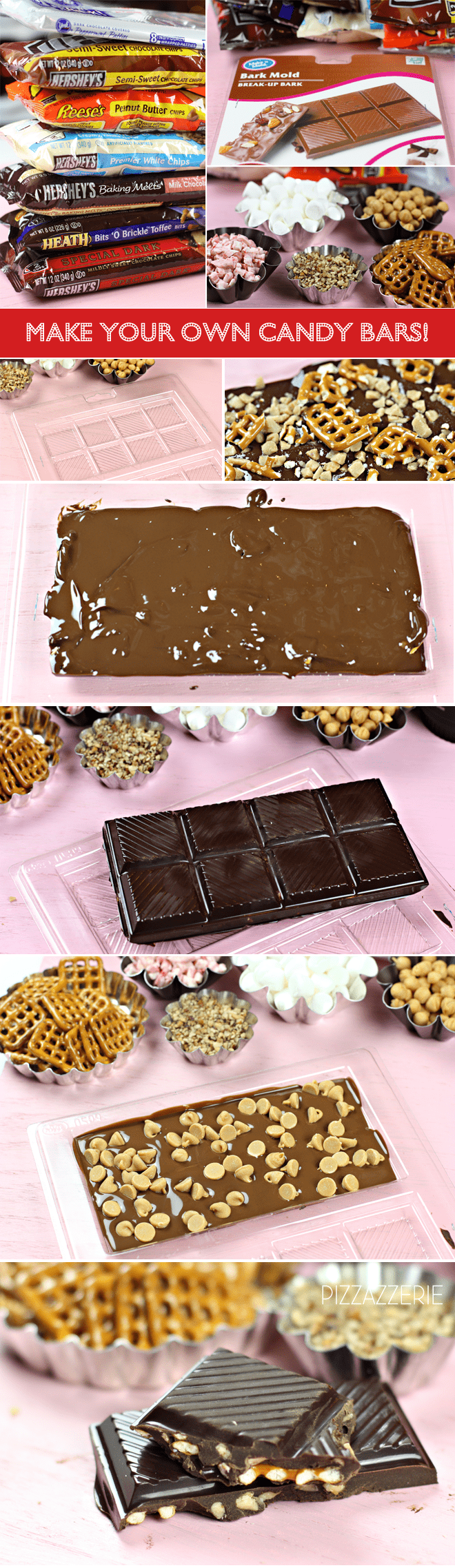 How to Make Your Own Candy Bar | Tutorial | Pizzazzerie.com