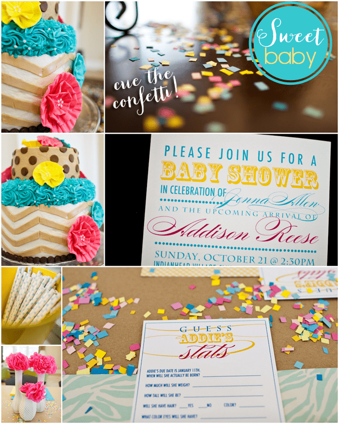 Cute Aqua + Yellow Baby Shower!