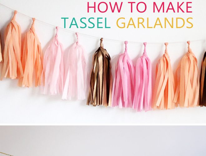 {DIY} How to Make your own Tassel Garland!