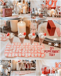 DIY Peppermint Trays! Make + serve at your Christmas Party!