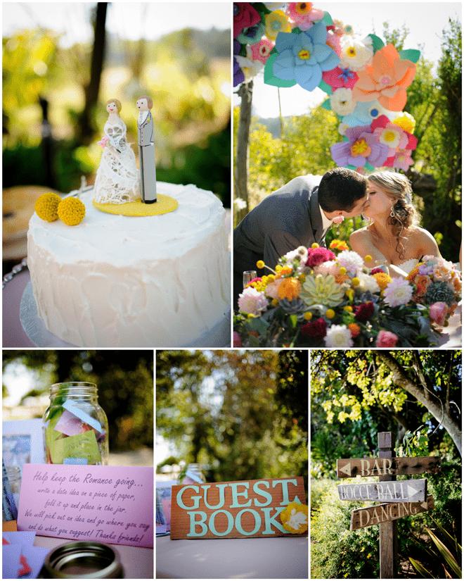 Colorful DIY Wedding Details