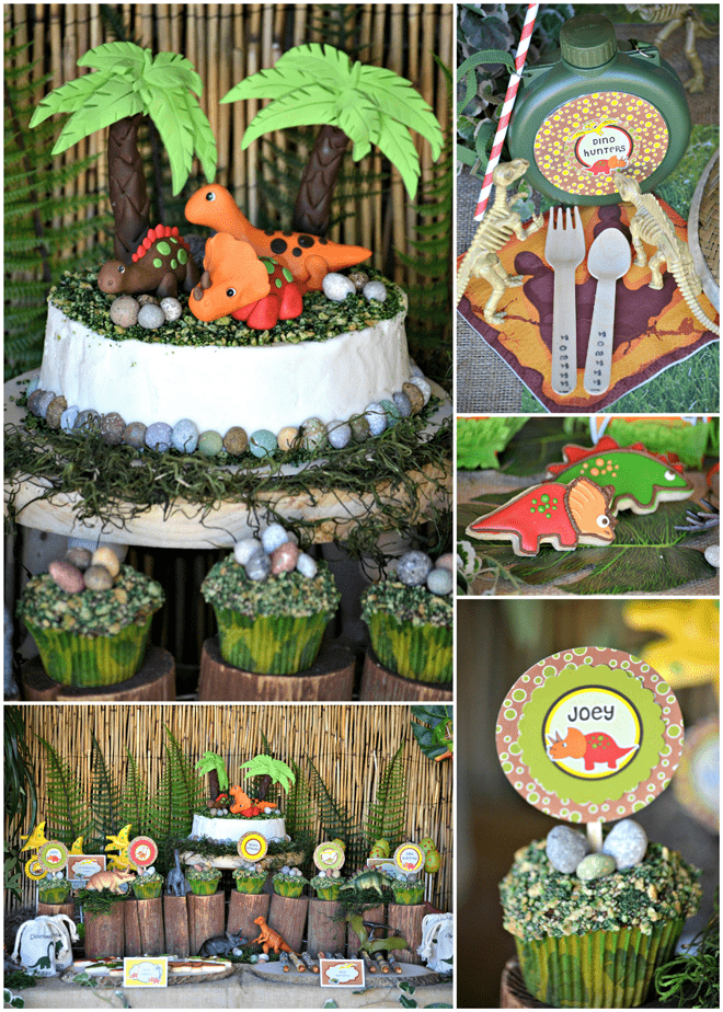 Super cute + detailed DINOSAUR Birthday Party!