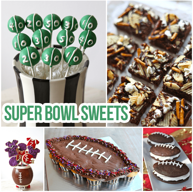 Starting Line Up Of Super Bowl Sweets Pizzazzerie