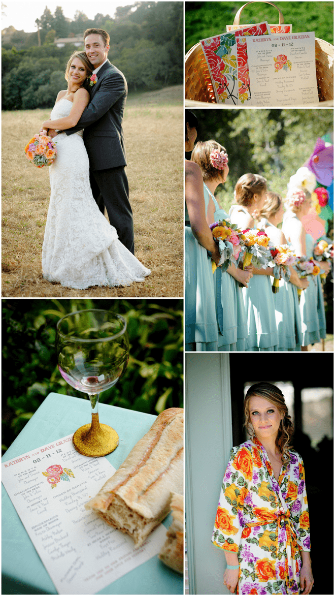 Colorful wedding with lots of DIY details!
