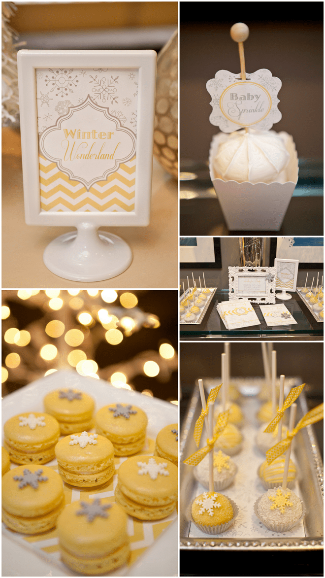 Sweet details from a Yellow and Gray Baby Sprinkle!