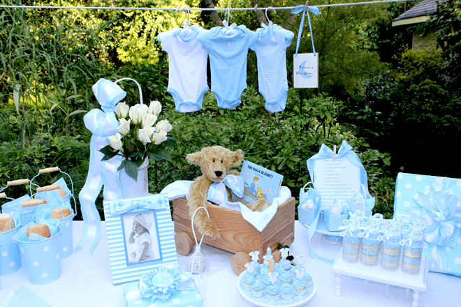 Once In A Blue Moon Baby Shower Pizzazzerie