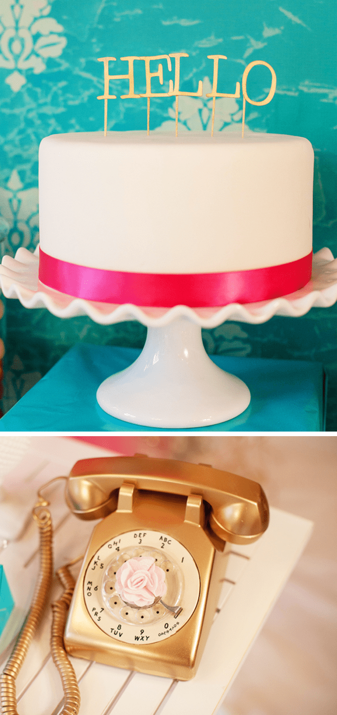 Call Me Maybe Cake and Gold Phone for Party!