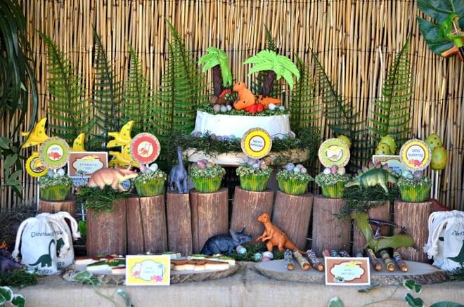 Dino Birthday Party Table!