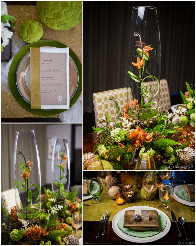 Green Tablescape Details!