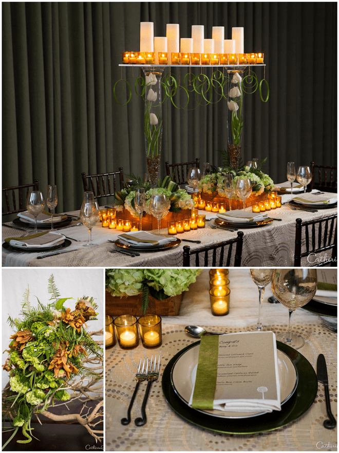 Sleek Wedding Tablescape with Gorgeous Details!