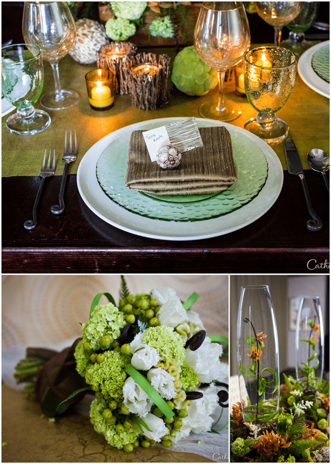 Green Woodland Inspired Wedding Tablescape