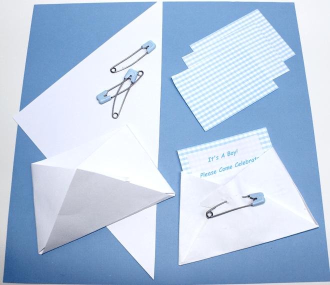 Cute invitation idea for baby shower.