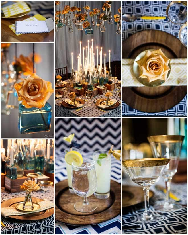 Gorgeous Blue & Gold Tablescape!
