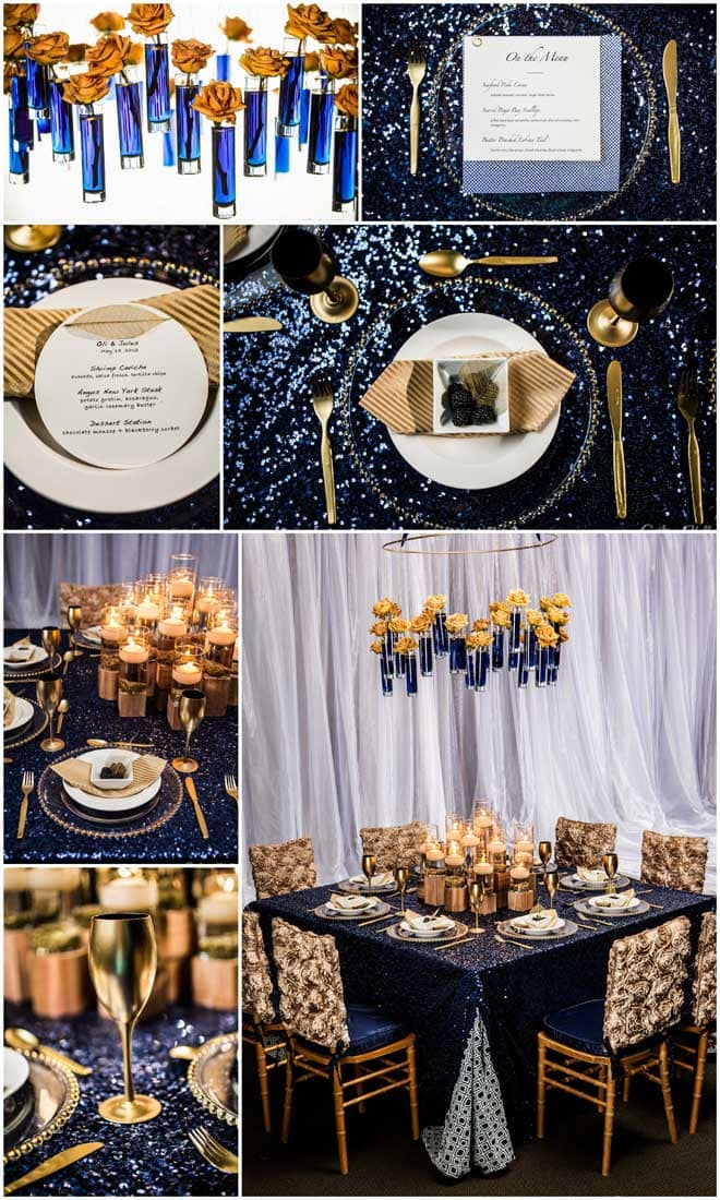 Vibrant Gold and Rich Blues!