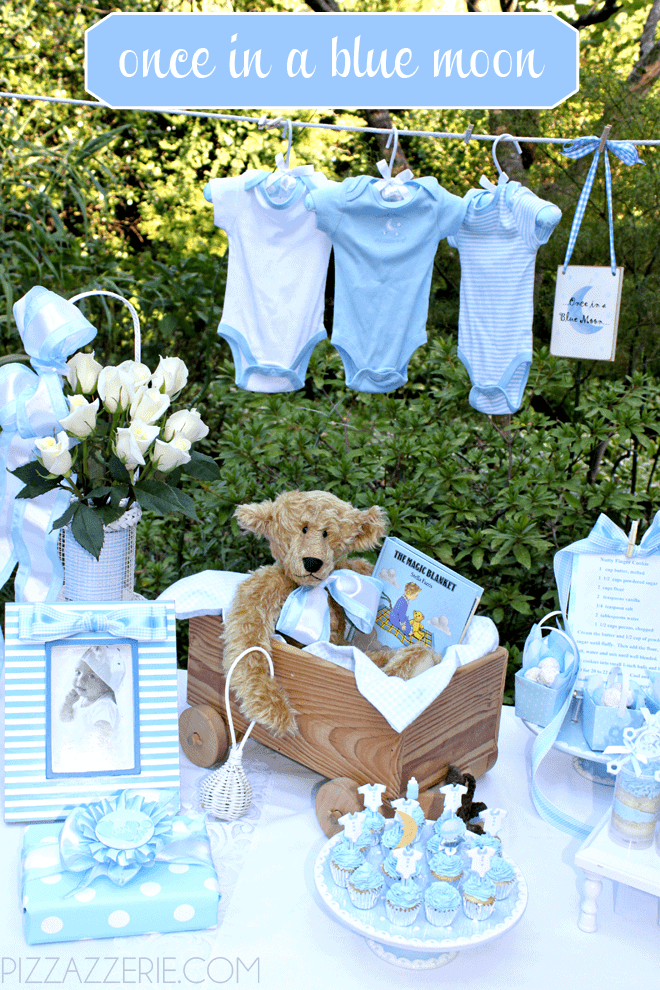 c2fd45cae37 Perfect theme for a boy shower! Once in a Blue Moon!