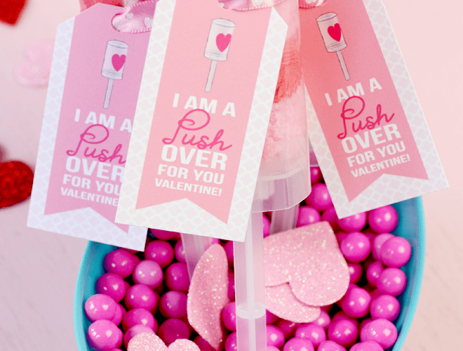 Push-Up Pops for Valentine's Day! + Free Printable!