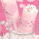 White Chocolate Mousse Valentine's Push-Up Pops for Michael's Stores!
