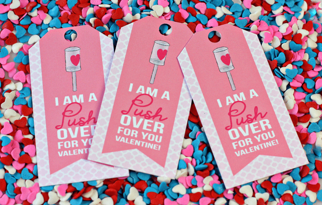Cute Valentine's Day Push-Up Pop Tags | FREE Download!