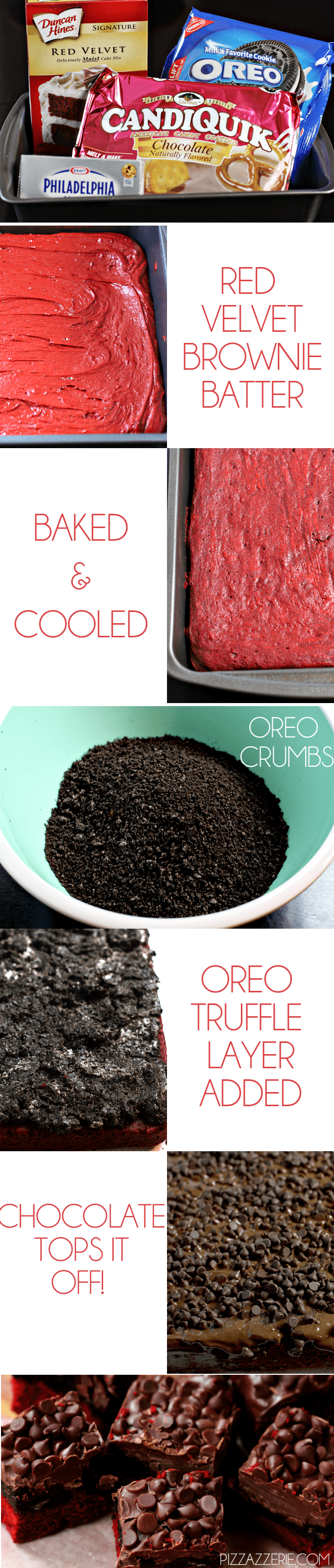 How to make Red Velvet Oreo Truffle Brownie Bars!