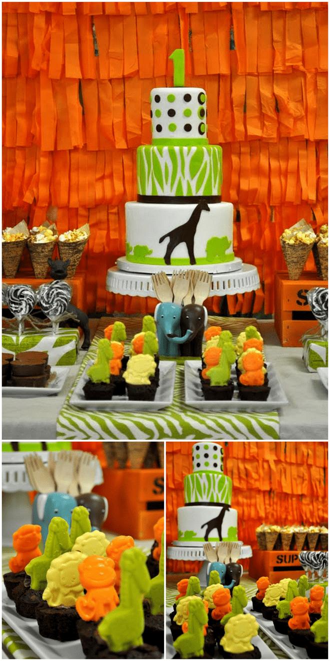 Safari Birthday Cake!