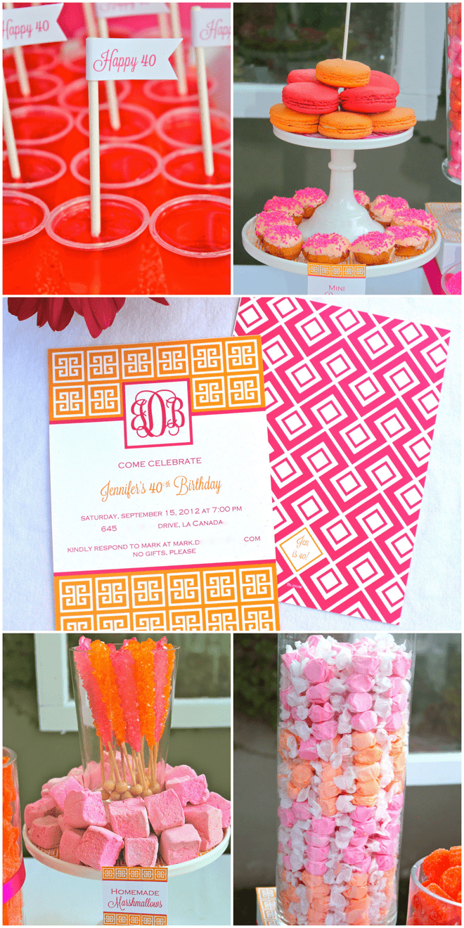 Pink and Orange Preppy Monogrammed Birthday Party!