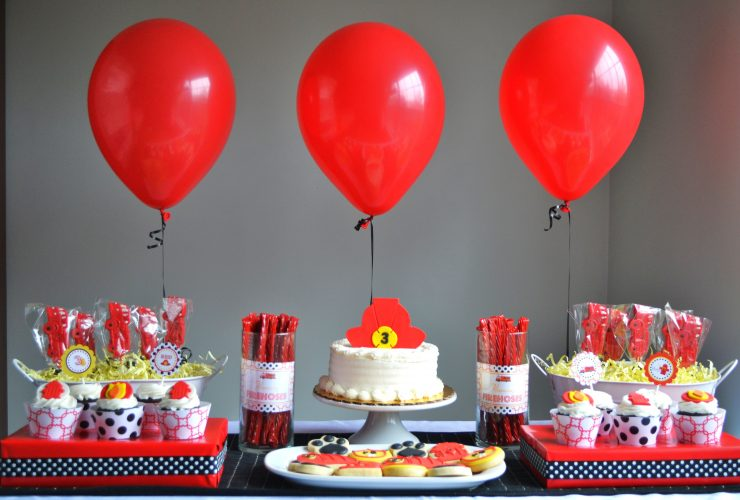 Cute Firefighter Birthday Party at the Firehouse!