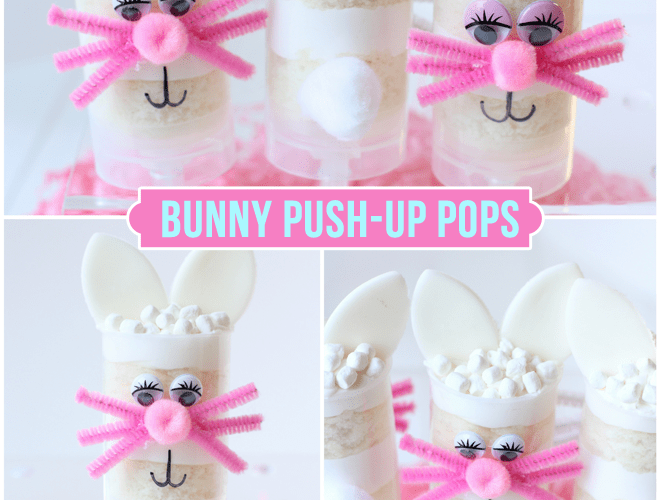 Easter Bunny Push-Up Pops for Michael's!