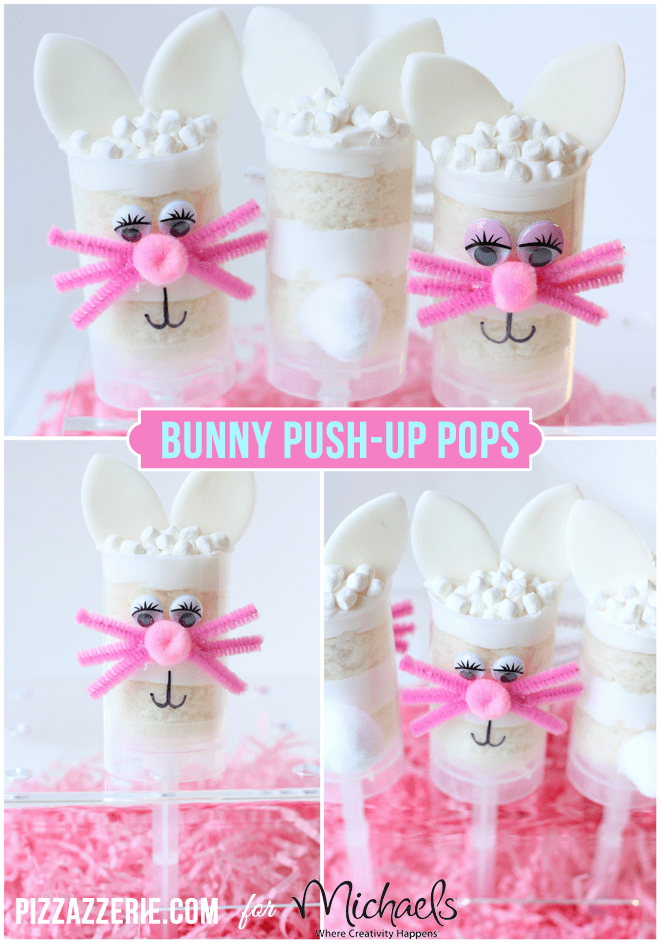 Easter Bunny Push-Up Pops by Courtney Whitmore for Michaels