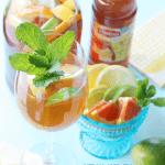 Sangria made with Lipton's Half Tea and Half Lemonade!