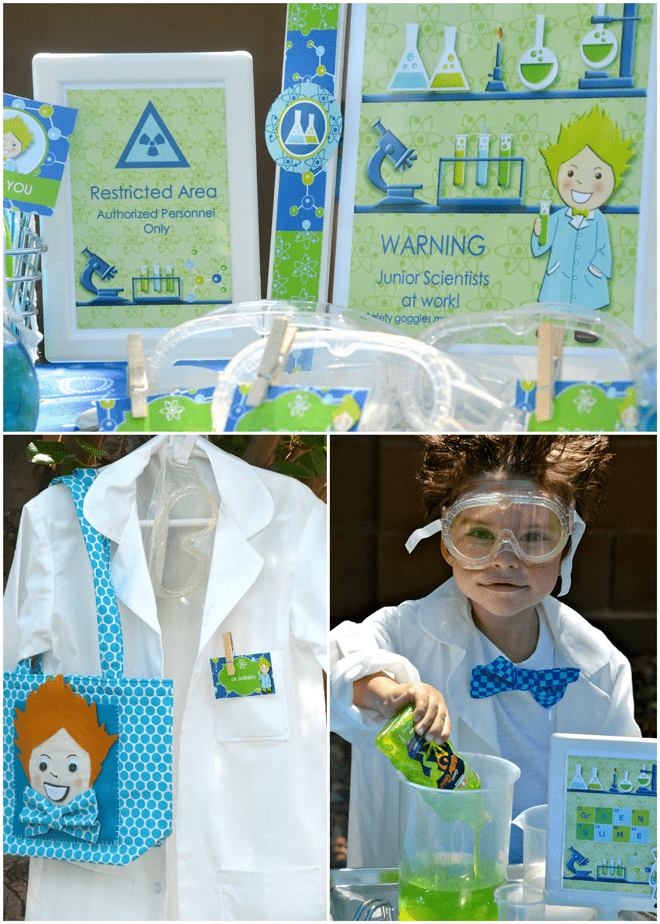 Super Creative Party Idea: MAD SCIENTIST with the cutest party food!