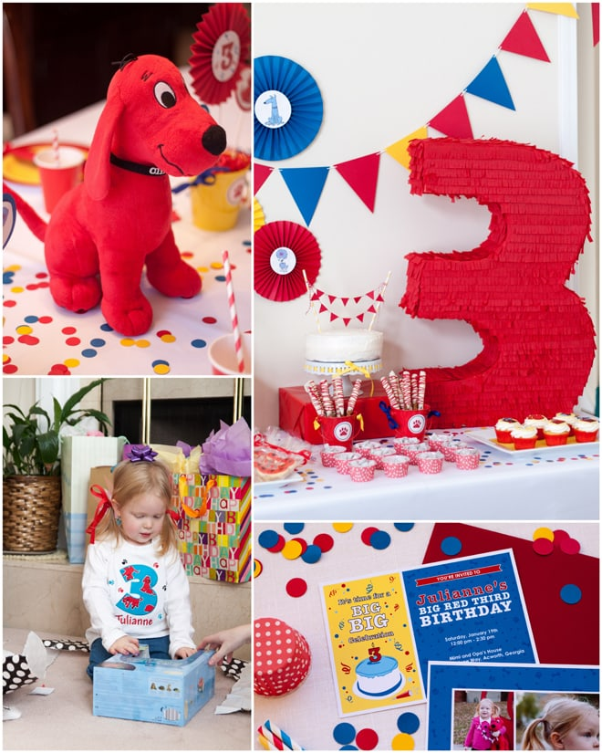 Clifford the Big Red Dog 3rd Birthday Party