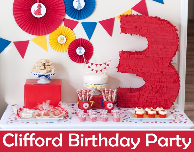 Clifford The Big Red Dog Inspired Birthday Party!