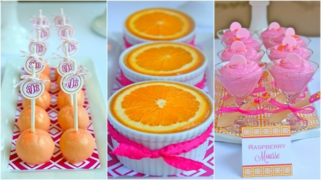 Pink and Orange 40th Birthday Treats!