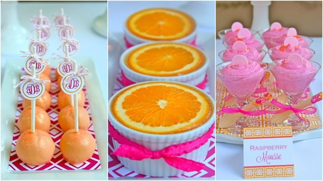 Pink and Orange 40th Birthday Treats!