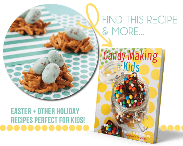 Cute book for the kids with holiday candy recipes by Courtney Whitmore of Pizzazzerie