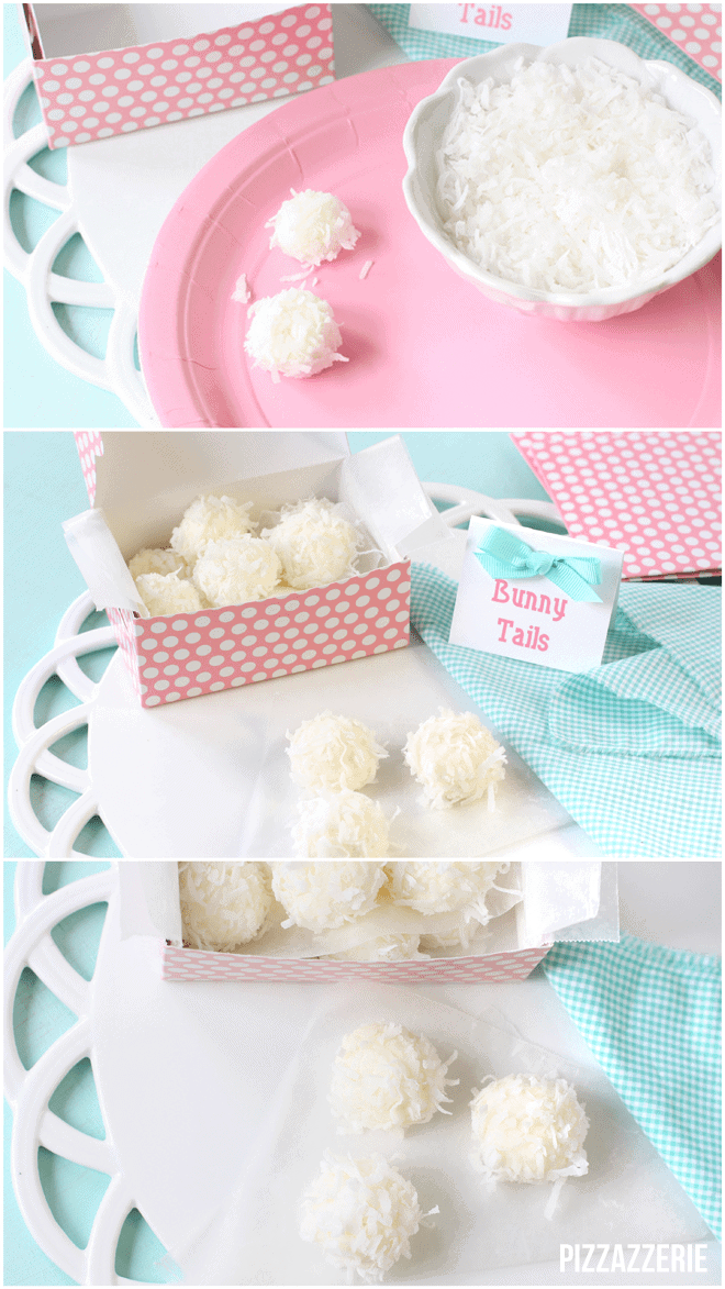 How to make little Easter Bunny Tail Bites