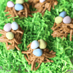 How to make cute Easter Egg nests with mini chocolate eggs!