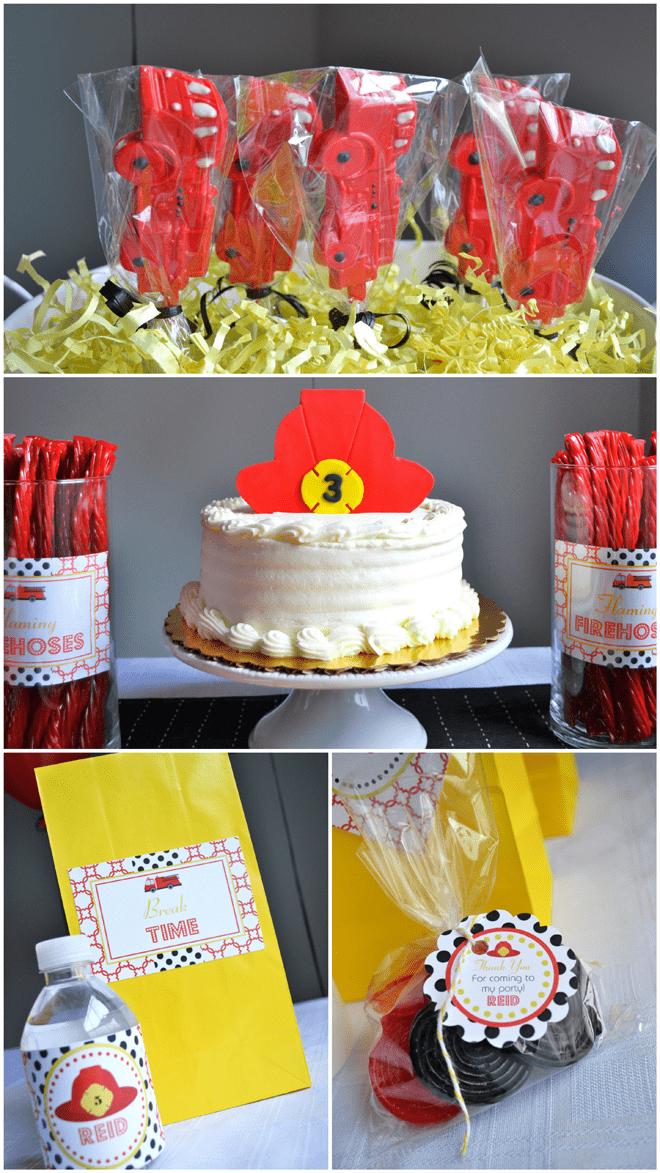 Firefighter themed birthday cake!